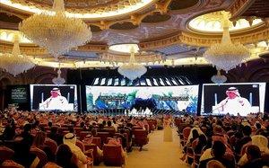 Sala donde se celebra el foro económico de Riad.