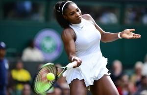 Serena Williams, durante su partido ante Anastasia.
