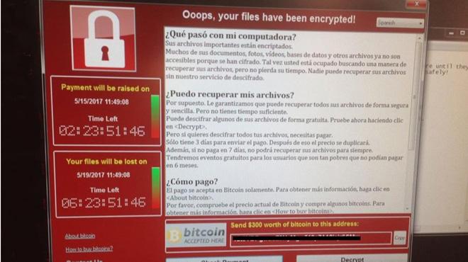 Telefónica y otras grandes empresas de España fueron infectadas por el Wannacry.