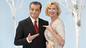 Ramón García y Anne Igartiburu, presentadores de la próxima retransmisión de las Campanadas de Fin de Año en TVE.
