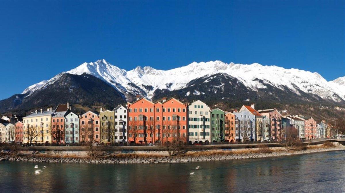 Una vista del paisaje del Tirol.