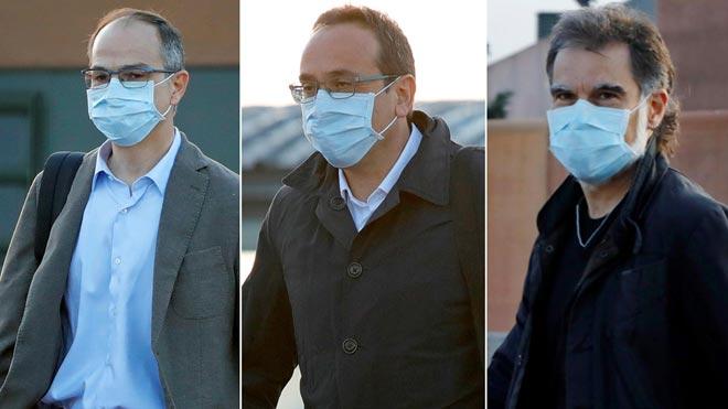 Turull, Rull y Cuixart salen de la cárcel para ir a trabajar.