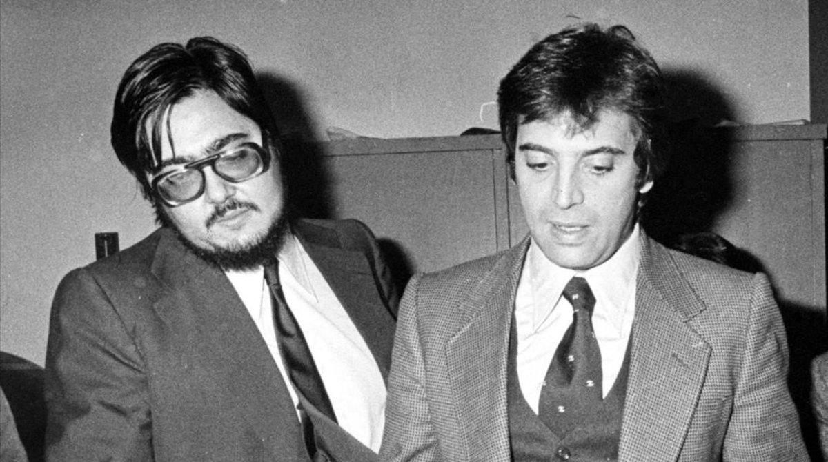 Antonio Franco y Antonio Asensio,el 26 de octubre de 1978.