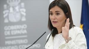Carmen Montón, el lunes durante su comparecencia en el Ministerio de Sanidad.