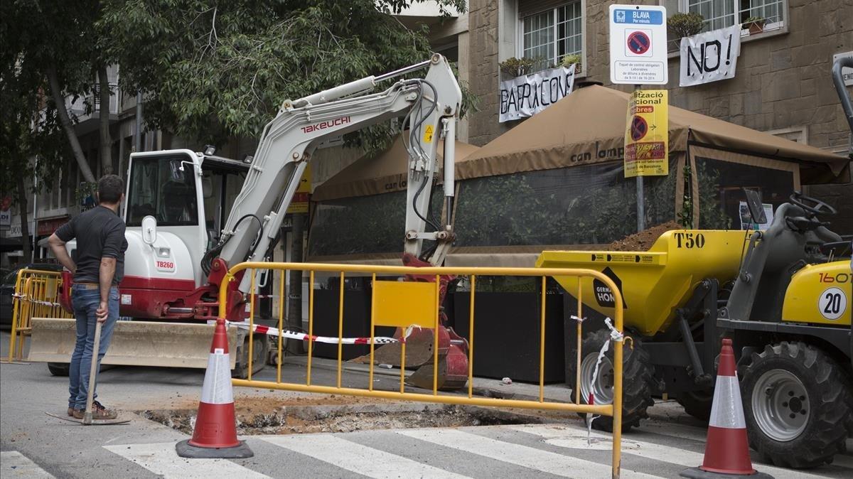 Los barracones de Marcos Redondo donde se prevé trasladar a la escuela Entença en el 2020.