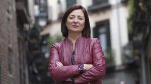 María Dolores Lozano, presidenta de la Asociación Española de Abogados de Familia (Aeafa), en una céntrica calle de Madrid.