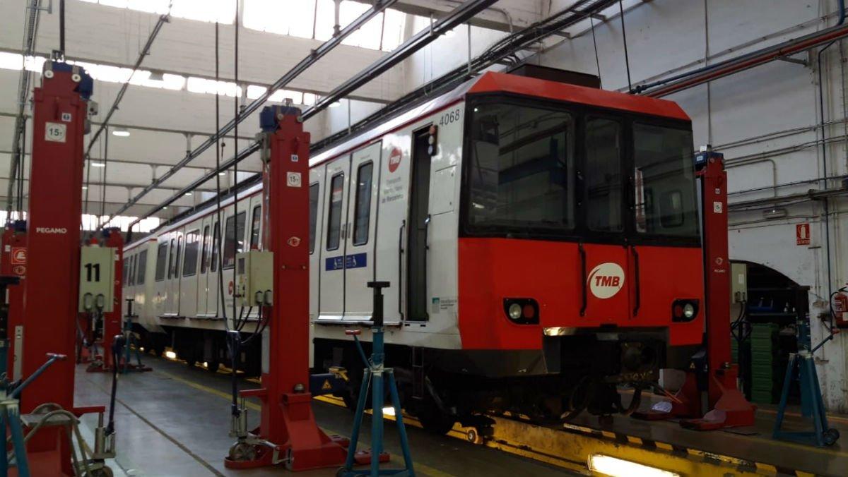 Uno de los vagones de metro analizados por TMB.