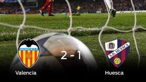 El Valencia venció en su estadio al Huesca