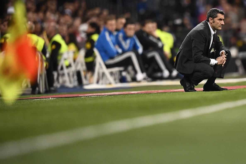 Valverde, el sábado pasado, en el Santiago Bernabéu.