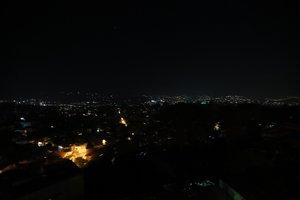 La ciudad de Caracas en completa oscuridad por el apagón generalizado.