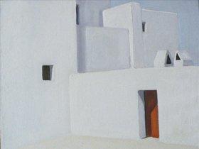 Una de las pinturas de Ferrer Guasch que forma parte de la exposición Ferrer Guasch, pintor dels blancs.