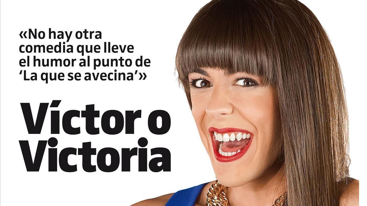 Víctor Palmero, en la portada de Teletodo, caracterizado como Alba en La que se avecina.