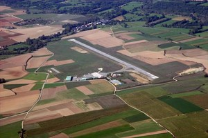 Vista del aeródromo de la Cerdanya.
