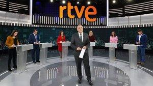 Xabier Fortes en el último debate a seis de RTVE.