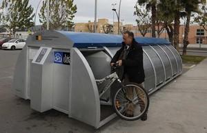 El Bicibox de Sant Joan Despí, en noviembre del 2010.