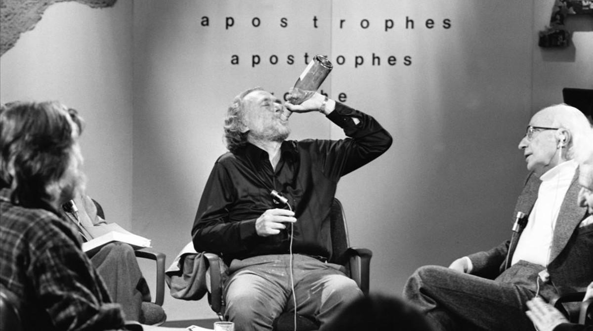 Charles Bukowski, en el programa Apostrophes, en 1978.
