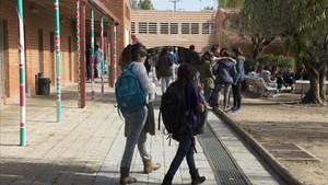 Estudiantes del máster de Formación del Profesorado de Secundaria en la UAB, en noviembre del 2015.