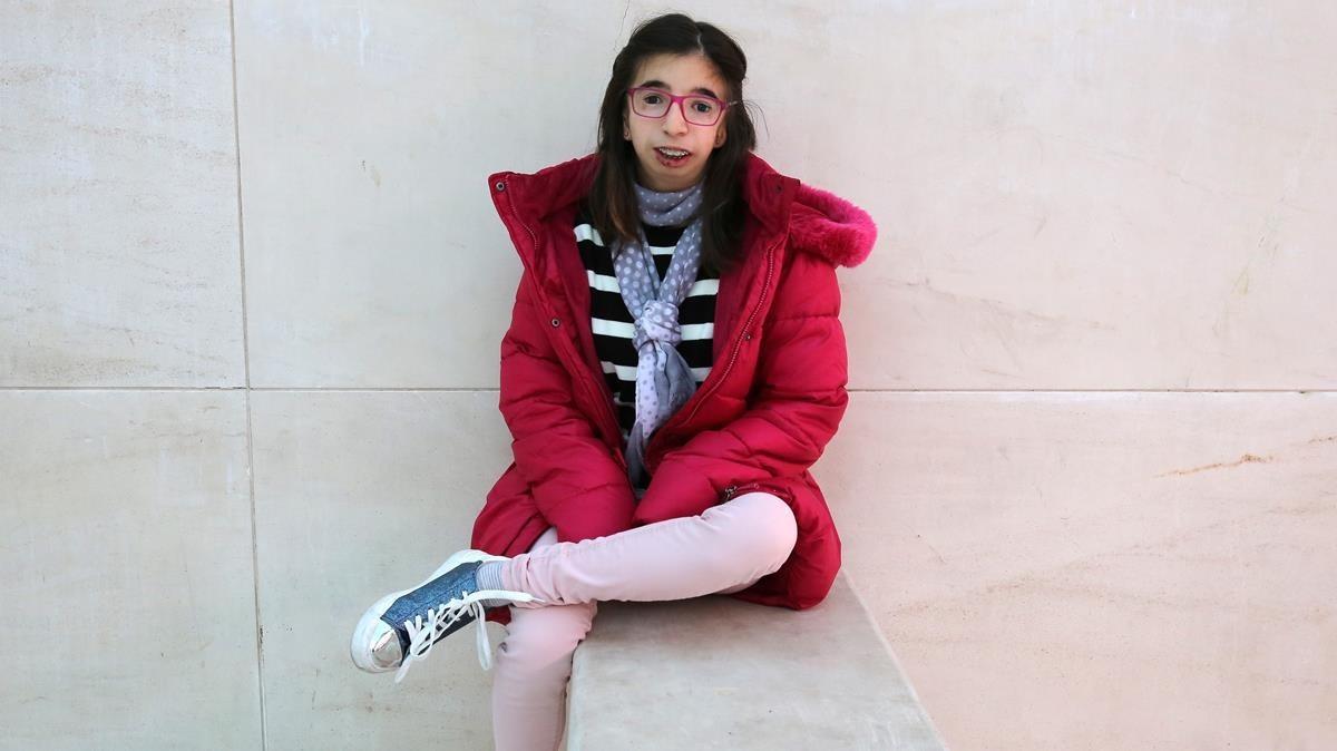 Zaira Sardina, adolescente con el síndrome deTreacher Collins.