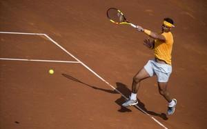 Rafael Nadal, en acción.