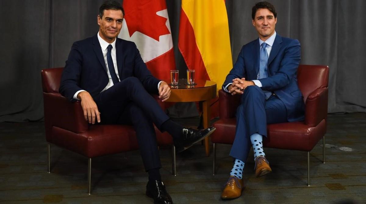 Els mitjons de Trudeau eclipsen la seva trobada amb Sánchez