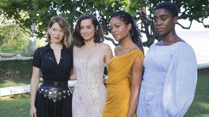 Lea Seydoux, Ana de Armas, Naomie Harris y Lashana Lynch, la mujer que probablemente sustituirá a Daniel Craig como agente 007.