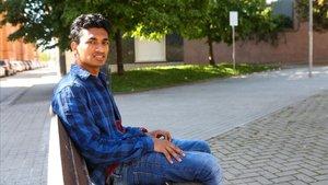 Giyaur Rahman, portavoz de la asociación de jóvenes extutelados de Catalunya, este domingo en Sabadell.
