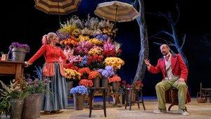 Rosa Boladeras y Xavier Ripoll en 'La Rambla de les Floristes', en el TNC.