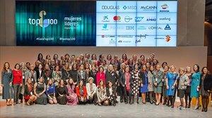 Foto de grupo en el acto celebrado el lunes en Madridde las Top 100 Mujeres Líderes.