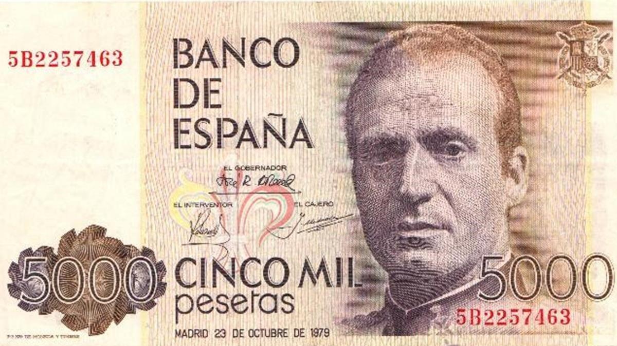 Billete de 5.000 pesetas.