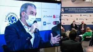 Jaume Collboni, durante su intevención en las Jornadas de Economía de S'Agaró.
