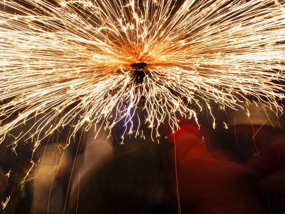 Imagen del Correfoc, durante las fiestas de la Mercè del año pasado.