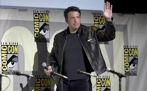 El actor Ben Affleck, en la presentación de Justice League, en Comic-Con.