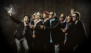 El grup {Los Manolos}, després danunciar el seu retorn pel 25º aniversari dels Jocs Olímpics de Barcelona.