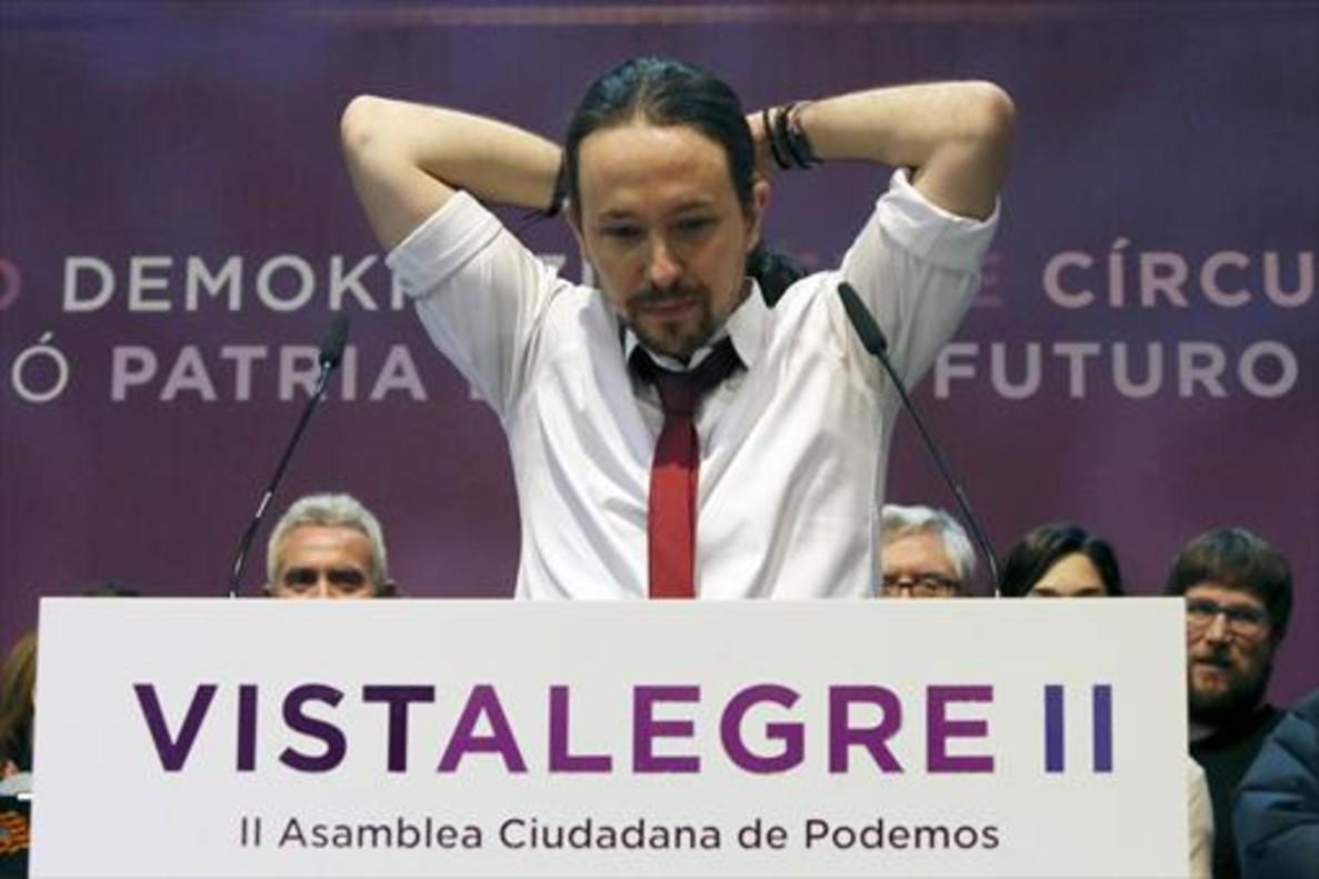 Asamblea Ciudadana 8Pablo Iglesias, en una intervención durante la reunión de Vistalegre 2, el pasado mes de febrero.