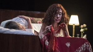 La obra de teatro La nit de la Molly Bloom se representa en la sala Muntaner.
