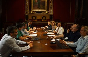 Primera reunión del comité ejecutivo de la Cambra de Comerç de Barcelona bajo la presidencia de Joan Canadell.