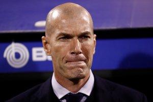 Zinedine Zidane durante el último partido del Madrid.