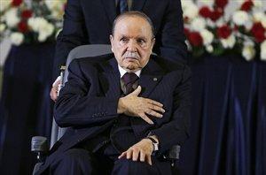 Abdelaziz Buteflika, presidente de Argelia, durante una acto.