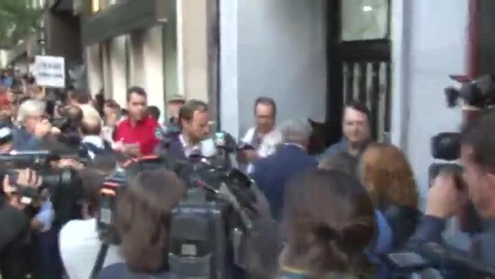 José Blanco, abucheado a su llegada al comité federal del PSOE