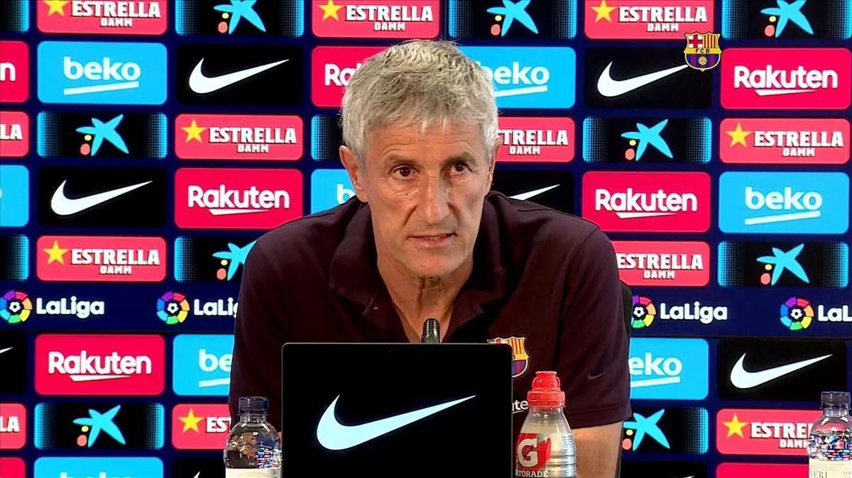 Setién: «Per descomptat que em veig entrenant el Barça la temporada que ve»