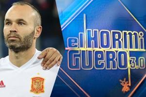 Andrés Iniesta acudirá esta noche a divertirse por primera vez al plató 'El hormiguero'
