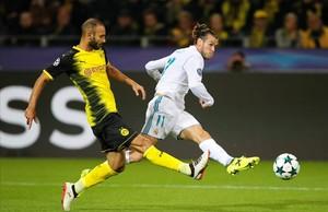 Bale, durante el último partido que jugó, el 26 de septiembre contra el B. Dortmund.
