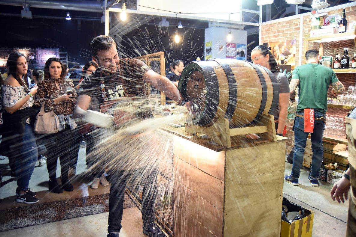 Una imagen de la edición pasada del Barcelona Beer Festival.