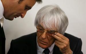 Bernie Ecclestone, con su abogado Norbert Scharf.
