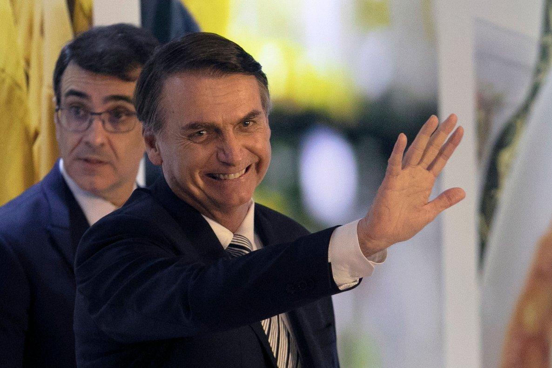 El presidente de Brasil, Jair Bolsonaro, durante un evento en el Parlamento brasileño.