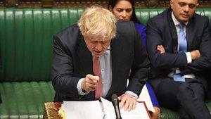 El primer ministro británico,Boris Johnson