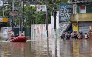 Inundaciones en la ciudad de Sao Paulo en Brasil.