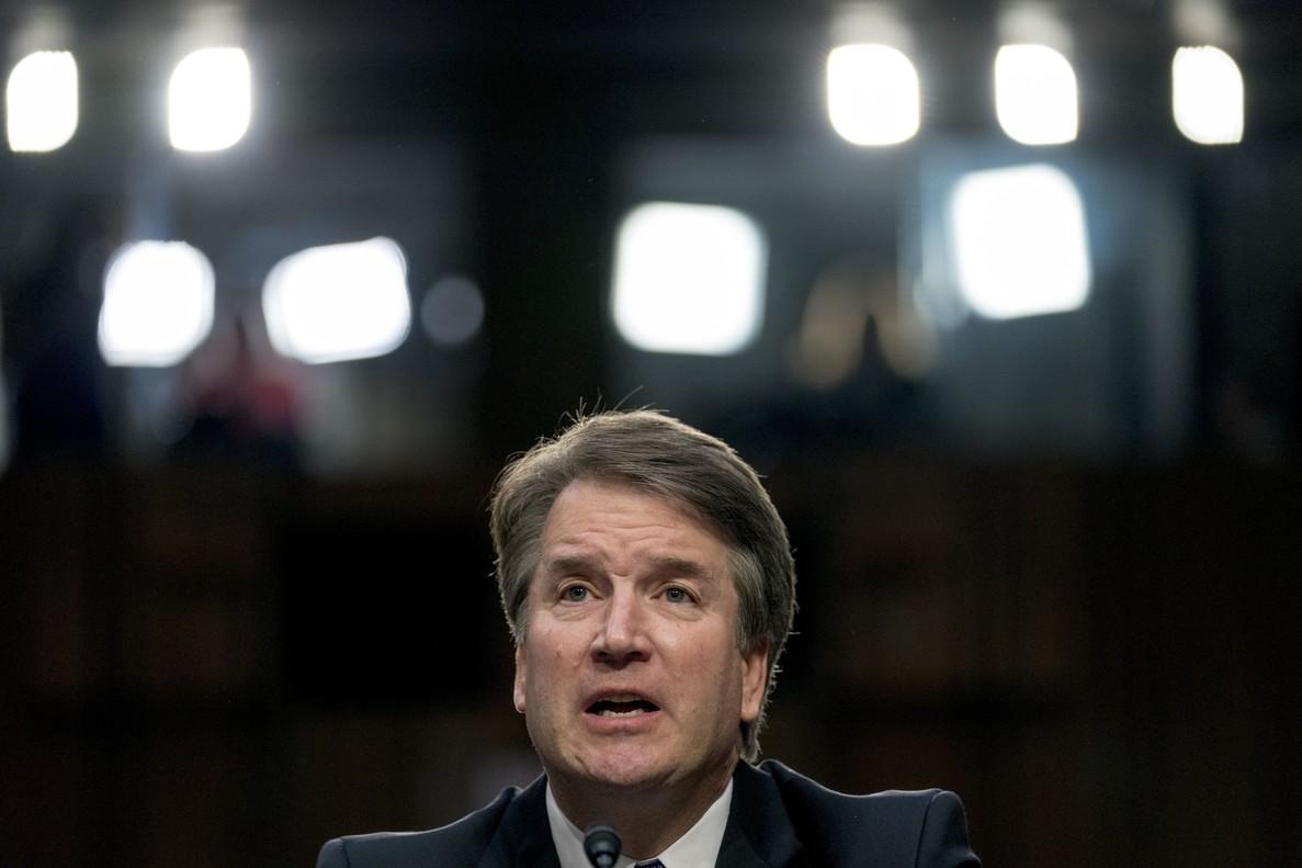 El juez Brett Kavanaugh declara ante el Comité Judicial del Senado, el 25de septiembre del 2018, en Washington.