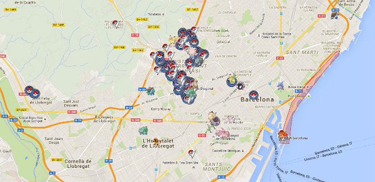 Mapa Gimnasios Pokemon Go.Un Mapa De Catalunya Para Hacerte Con Todos Los Pokemons