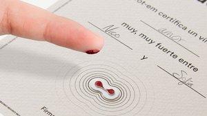 Certificado de un pacto de sangre de la firma Tot-em.